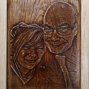 Riproduzione su legno da fotografia
