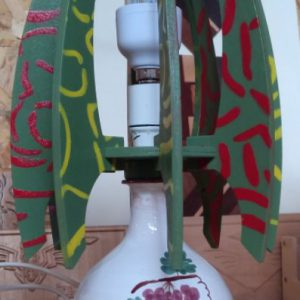 Lampade da tavolo con bottiglia in ceramica