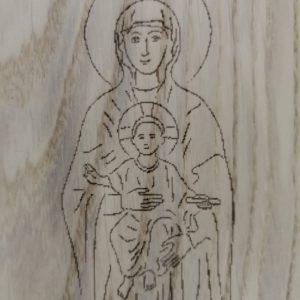 Madonna con bambino incisione laser