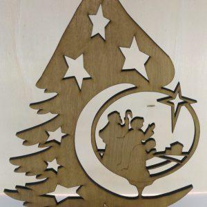 Albero Natale con decorazione