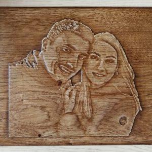 Riproduzione foto su legno