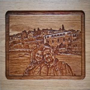 Immagine su legno 3D